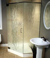 Waterfall Glass Tile Frosted And Textured Glass Options For Shower Doors