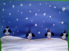 crafts for preschoolers fingerprint penguins