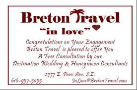 wedding registry for travel honeymoon wedding breton travel