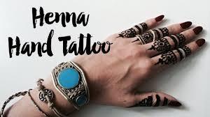 henna hand tattoo youtube