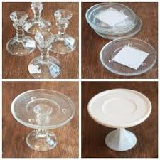 plates that stick to table inspiration spray painted dollar store glass plates and candle