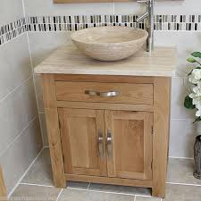 Bathroom Furniture Oak Bathroom Vanity Unit Oak Modern Cabinet Wash Stand Travertine Top