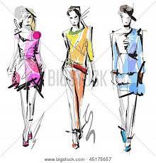 fashion models sketch vector u0026 photo bigstock