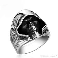 cool jewelry rings images Fashion cool men tough guy punk style retro grim reaper skull jpg