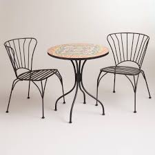 B Q Bistro Chairs Furniture Best Original Mosaic Bistro Table And Chairs Set