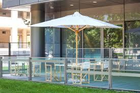 pare vent verre paravent télescopique en verre pour terrasse de restaurant abriglass