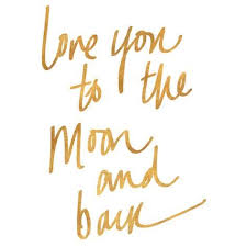 you to the moon and back gold foil prints allposters co uk