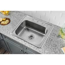 Overmount Kitchen Sinks Stainless Steel by Self Rimming Kitchen Sink Four Hole Faucet White Color Cast Iron