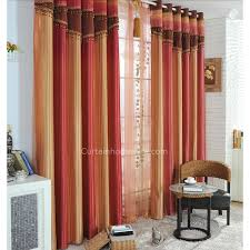 Orange Thermal Curtains Western Style Curtains In Simple But Modern Design For Blackout