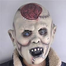 Latex Halloween Costume Halloween Party Costume Mask Scaring Head Horror Headgear