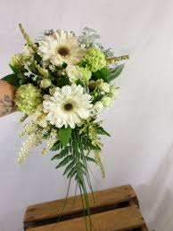 wedding flowers hamilton white and green small cascading wedding bouquet designed by