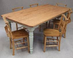 oak farmhouse kitchen table u0026 six vintage chapel chairs