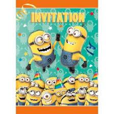 despicable me invitation party supplies