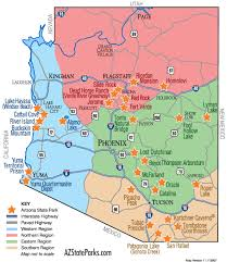 us map arizona state on the map planning our visit arizona state parks to do list