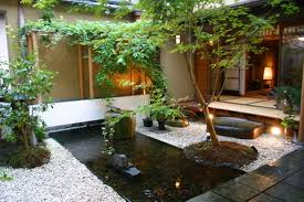 exteriors small backyard fish pond ideas with stone and ganden