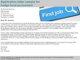 Hedge Fund Resume Sample by Hedge Fund Accountant Application Letter