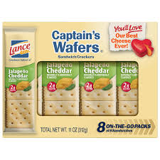 lance captain s wafers sandwich crackers jalapeno cheddar 8