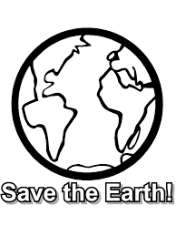 free earth day coloring page save the earth from primarygames take