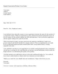 luxury cover letter for construction worker 69 with additional