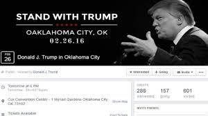 halloween city owasso ok oaklahoma trump u0027s official facebook event page misspells oklaho