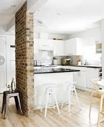 cuisine avec mur en lа de parement intérieur salons living rooms and interiors