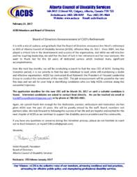 retirement announcement ceo retirement announcement letter feb 2017 1 align association