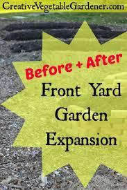 creative vegetable gardener front yard vegetable garden expansion
