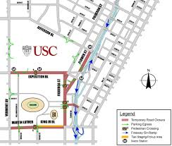 Expo Line Map Getting Here Usc Game Day On Campus