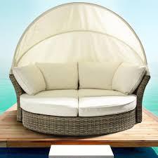 divano giardino salpi divano da giardino in rattan sintetico con cappottina