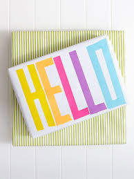 hello wrapping paper washi gift wrapping say hello basteln mit papier