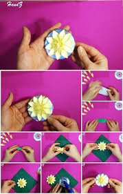 3d origami beginner tutorial easy 3d origami flower on cd tutorial usefuldiy com