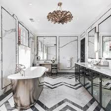 Black And White Bathrooms Ideas Black And White Marble Floor Design Ideas