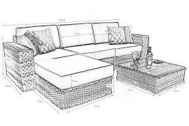 luxury sutton rattan corner sofa deep lounge set wicker outdoor