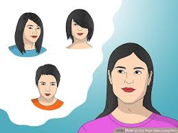 flip hair upsidedown and cut 9 ways to cut your own long hair wikihow