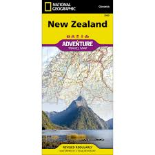 zealand on map zealand adventure map national geographic store