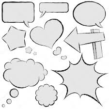 speech bubble hand drawn collection of comic speech bubbles in hand drawn style u2014 stock
