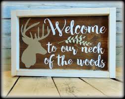 deer decor for home country rustic welcome sign deer decor housewarming gift welcome