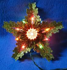 lighted christmas tree topper finest inch lighted white and
