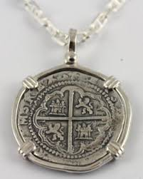 silver coin necklace pendants images Atocha galleon spanish shipwreck silver coin key west florida jpg