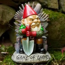 sales of tacky garden gnomes rockets as unfashionable ornaments