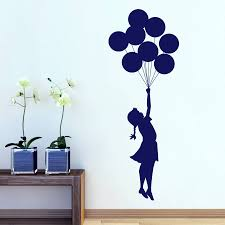 remarkable ideas banksy wall art creative inspiration banksy decal charming design banksy wall art wondrous ideas balloon girl sticker by mirrorin