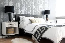 Nightstand West Elm Phillip Jeffries Arches Wallpaper Contemporary Bedroom Laura