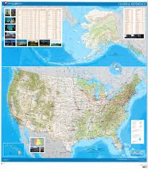 United States Map With Rivers Lakes And Mountains by