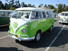 green volkswagen van thesamba com gallery green and white bus