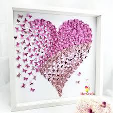 butterfly wall art etsy paper butterfly wall art heart canvas