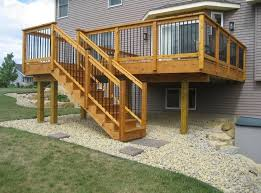 Backyard Deck Design Ideas Outdoor Garden Astounding Elevated Deck Design Ideas For