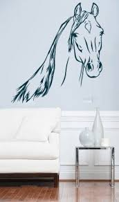 Stickers For Walls In Bedrooms by Large Horse Showjump Art Bedroom Mural Stencil Wall Sticker