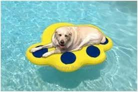 Floating Dog Bed Large Inflatable Raft Blue Yellow Accessories Keep Me Cool