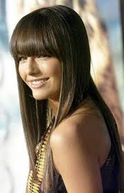 hair style that is popular for 2105 straight bangs hairstyle for round face women hairstyles