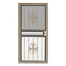 glass security doors unique home designs 36 in x 80 in pima tan surface mount